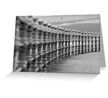 Blackpool's promenade Greeting Card