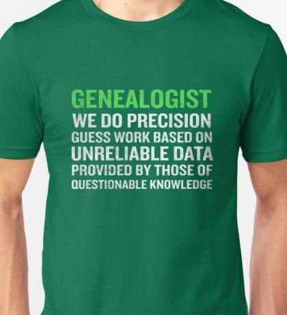 Genealogy Meaning Funny Genealogists Term Gift Unisex T-Shirt