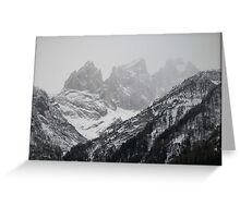 Winter Time in the Dolomites Greeting Card