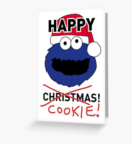Cookie Monster Xmas Card Greeting Card