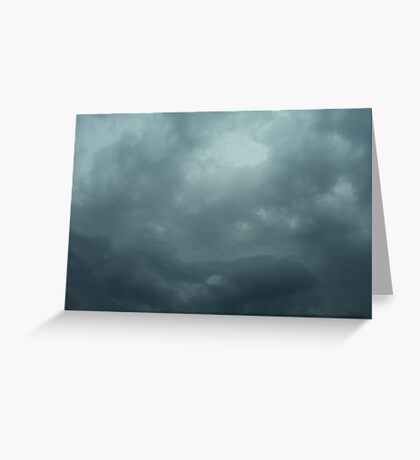 Blue Thunderstorm Clouds Greeting Card