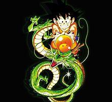 Guko and Dragon Ball  by bradixart