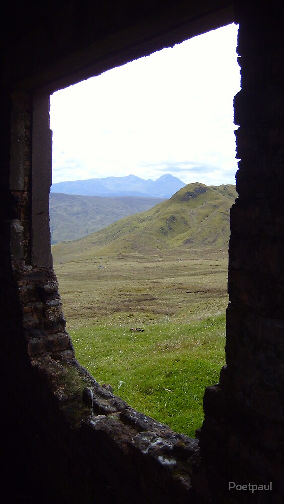 A window on the hills above Loch Tay by Poetpaul