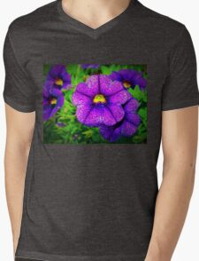 Purple lovers' flower Mens V-Neck T-Shirt