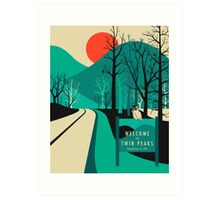 Twin Peaks Travel Poster Art Print