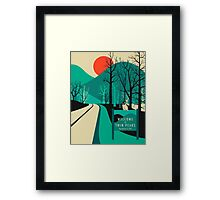Twin Peaks Travel Poster Framed Print