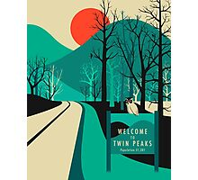 Twin Peaks Travel Poster Photographic Print