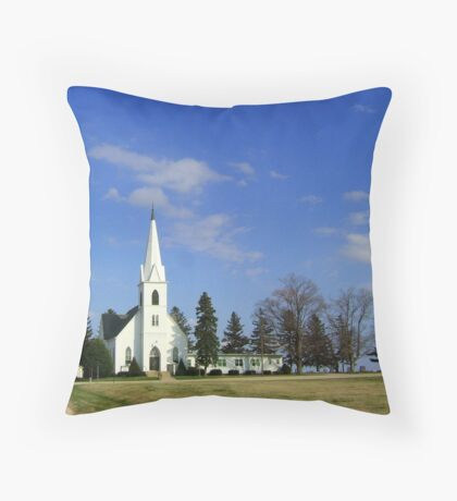 L'il Church on the Prairie Throw Pillow