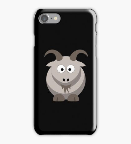 Cute Funny Cartoon Goat Character Doodle  Drawing T Shirts And Gifts iPhone Case/Skin