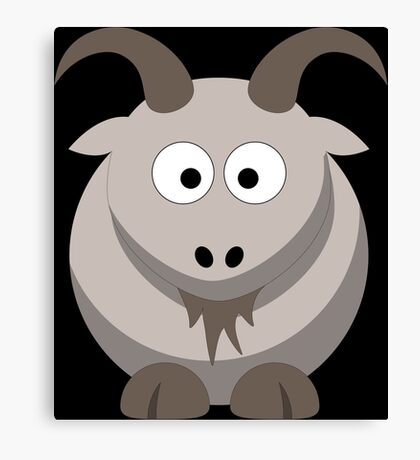 Cute Funny Cartoon Goat Character Doodle  Drawing T Shirts And Gifts Canvas Print