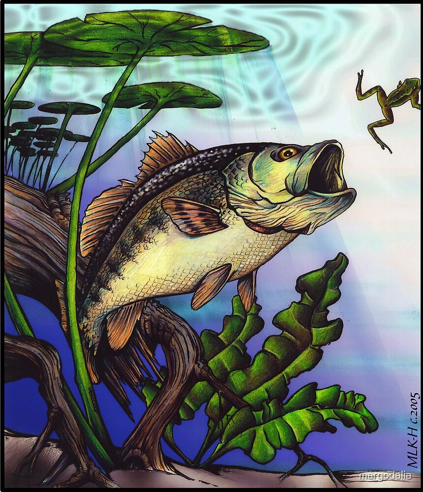 largemouth bass by margodalia