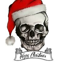 Christmas skull by RayneArt