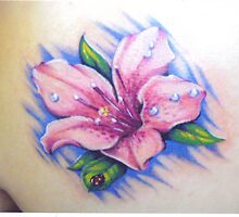 Azalea tattoo by margodalia