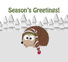 Season's Greetings! Cute Hedgehog by Eggtooth