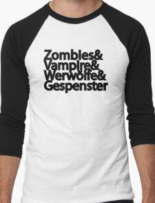 Zombies Vampire Werwölfe Gespenster Men's Baseball ¾ T-Shirt