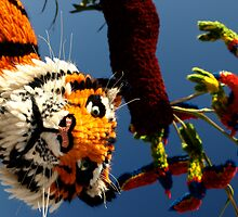 Tiger, Jersey Battle of flowers by Alan Lagadu