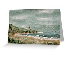 Bay with Lighthouse Greeting Card
