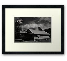 Gulf Station, Braselton, Ga Framed Print