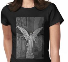Angel Of Santo Domingo Church In Cuenca Womens Fitted T-Shirt
