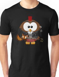 Punk Grunge Rock Guitar Cartoon Owl - Funny Anarchy Music Band Comic T Shirts And Gifts Unisex T-Shirt