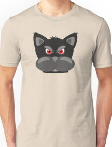 Cool Angry Crazy Mad Red Eyes Cat Cartoon Drawing T Shirts And Gifts Unisex T-Shirt