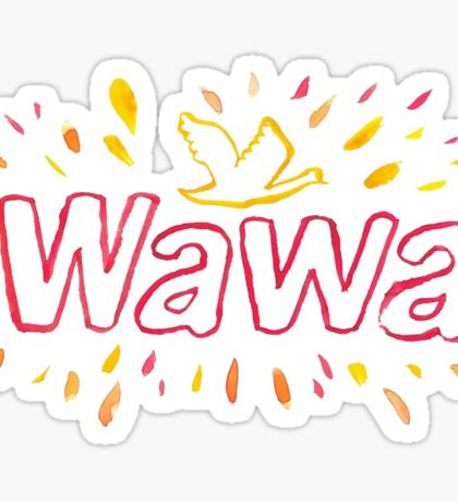 Water Color Wawa  Sticker
