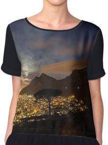 Table Mountain at Night Women's Chiffon Top