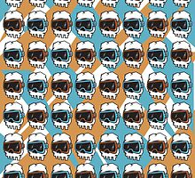 HipsterSkull Pattern 2 by rock4design