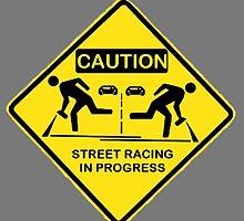 Street racing in progress by SeedyRom