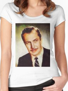 Vincent Price, Vintage Hollywood Actor Women's Fitted Scoop T-Shirt