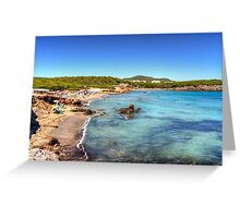 Cala Nova, Ibiza Greeting Card