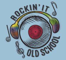 retro rockin it old school LP record headphones by BigMRanch