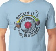 retro rockin it old school LP record headphones Unisex T-Shirt