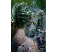 Lady in grassland Photographic Print