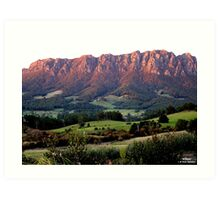 photoj Australia - Tas Mt Roland, Sunrise Art Print