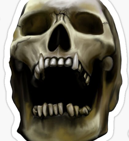 Open Skull Sticker