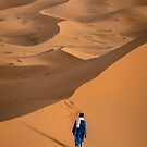 Solitude in the Sahara - Merzouga Dunes, Morocco by Liam Byrne
