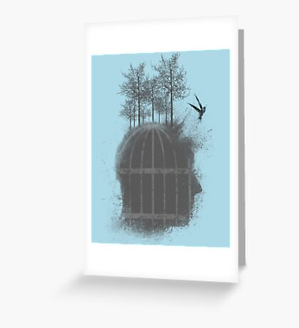 Free Your Mind  V  -14 Greeting Card