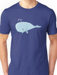 Cute Blue Cartoon Ocean Whale - Cool Sea Animals Drawings T Shirts And Gifts Unisex T-Shirt