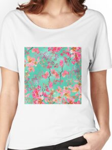 Elegant hand paint watercolor spring floral  Women's Relaxed Fit T-Shirt