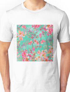 Elegant hand paint watercolor spring floral  Unisex T-Shirt