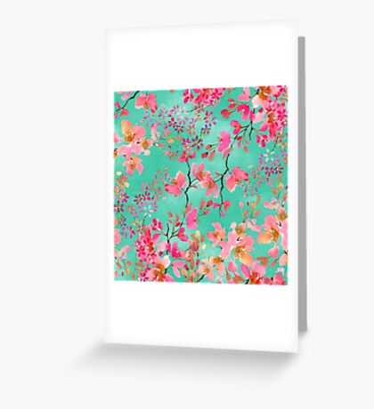 Elegant hand paint watercolor spring floral  Greeting Card