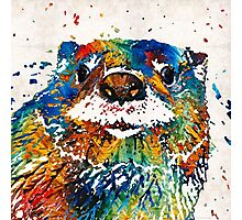 Otter Art - Ottertude - By Sharon Cummings Photographic Print