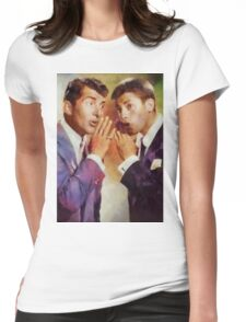 Dean Martin and Jerry Lewis, Vintage Hollywood Legends Womens Fitted T-Shirt