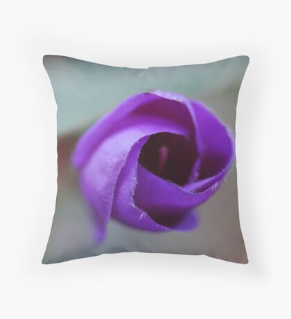 Purple Macro Throw Pillow