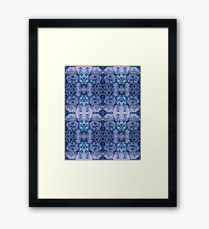 Ice queen-blue florals, woodland, forest, fairy, spiritual, yoga Framed Print