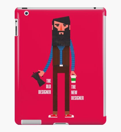 Old designer, new designer iPad Case/Skin