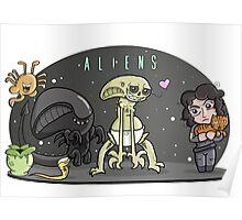 Happy Aliens Poster