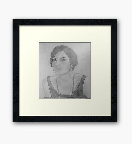 Mary Crawley - Downton Abbey Framed Print