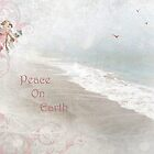"""Angels in Pink """"Peace on Earth"""" ~ Greeting Card by Susan Werby"""